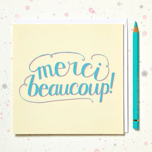 'Merci Beaucoup' Thank You Card - thank you cards