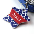 Personalised Clover Pet Tag Star Shaped