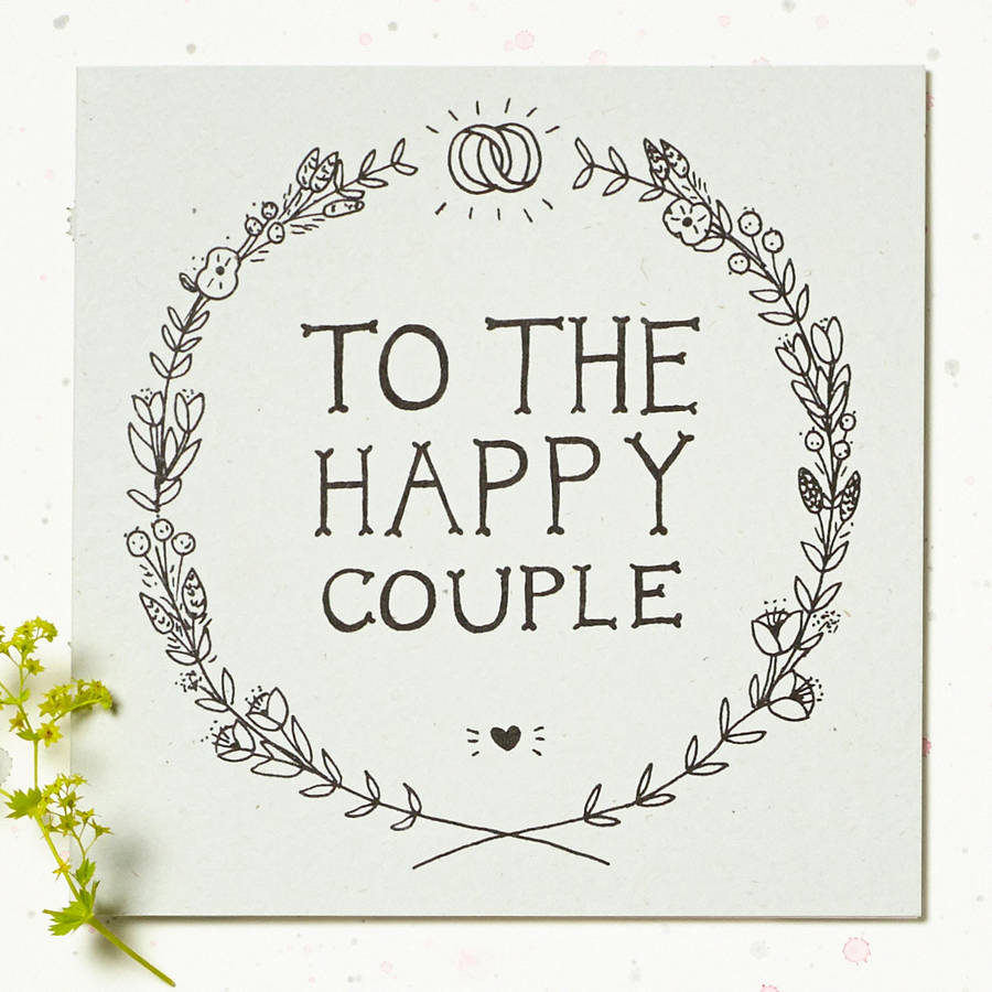 39 to the happy couple 39 wedding card by wolf whistle Married to design