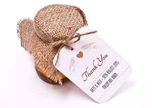 Bird Favour Tag - wedding favours