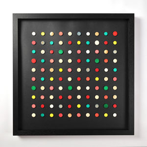 Original Framed Collage Artwork 'Bone Counters' - modern & abstract