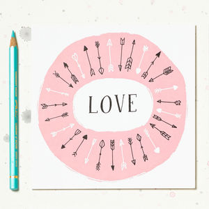 'Love' Illustrated Card - styling your day