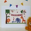 Personalised Jungle Animal Nursery Print