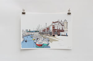 Bristol Harbourside Digital Print