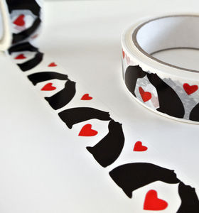 Hearts And Kisses Gift Tape