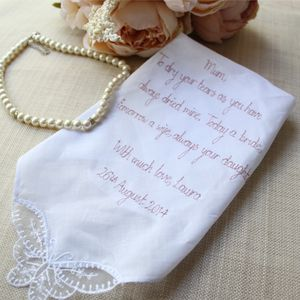 Mother Of The Bride / Groom Handkerchief - wedding thank you gifts