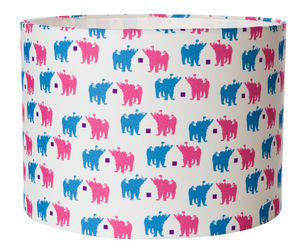 Bear Chat Lampshade - furnishings & fittings