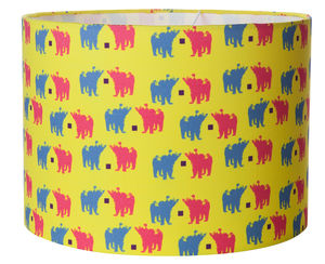Bear Chat Lampshade - dining room