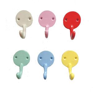 Colourful Metal Wall Hook Medium - hooks, pegs & clips
