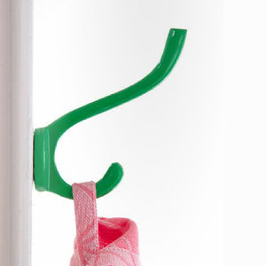 Colourful Metal Double Wall Hook Large - kitchen