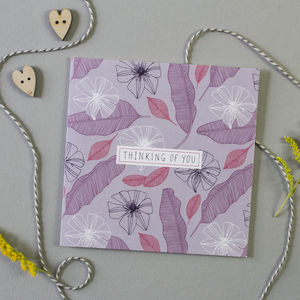 Clematis Thinking Of You Card - sympathy & sorry cards