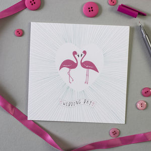 Flamingos Wedding Card - styling your day