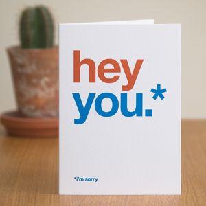 'I'm Sorry' Card - sympathy & sorry cards