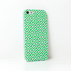 Green Squares Phone Case - bags & purses