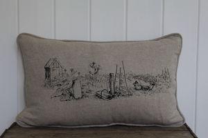 Vegetable Garden Printed Cushion