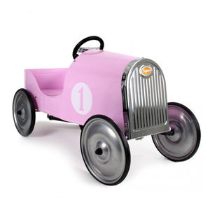 Vintage Pink Pedal Car - cars & trains
