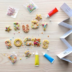 Children's Personalised Alphabet Biscuit Decorating Kit - biscuits