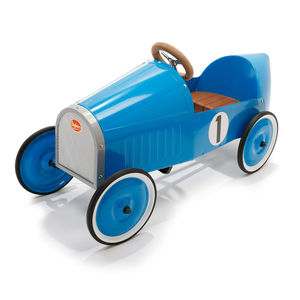 Vintage Blue Pedal Car - outdoor toys & games