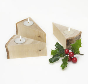 Christmas Woodland Tea Light Holder - christmas home accessories