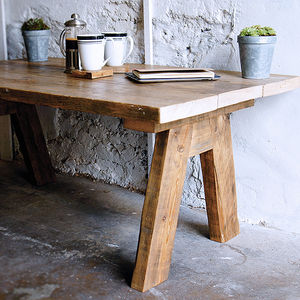 Reclaimed Wood Farmhouse Coffee Table - coffee tables