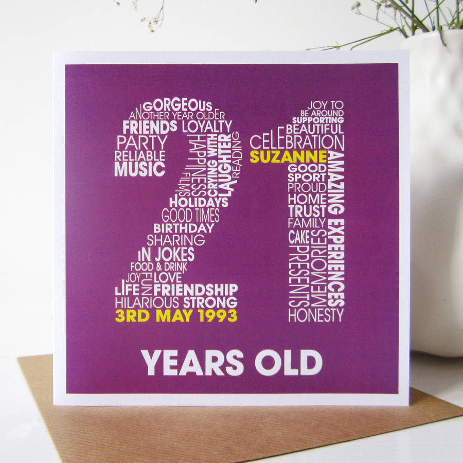 personalised st birthday card by mrs l cards, Birthday card