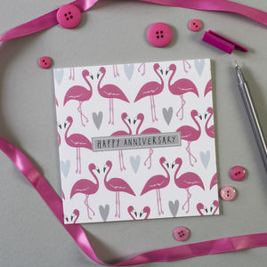 Flamingos Anniversary Card