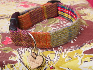 Finsbay Harris Tweed Dog Collar - pet collars