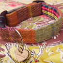 Finsbay Harris Tweed Dog Collar