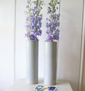 Celadon Tall Ceramic Vase
