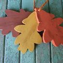 Hanging Wooden Autumn Leaves