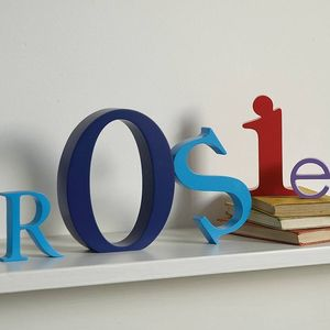 Coloured Wooden Letter - outdoor decorations