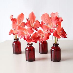 Claret Red Miniature Single Stem Bottle - vases