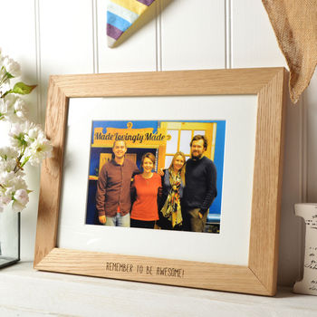 Personalised Oak Frame With Your Picture