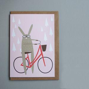 Pashley Rabbit Bike Greetings Card