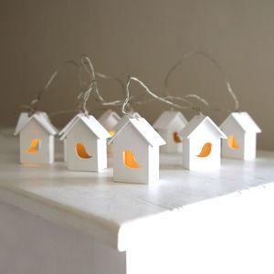 Bird House Light Garland