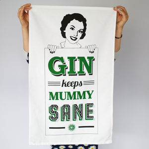 'Mummy Gin' Gin Tea Towel - tea towels