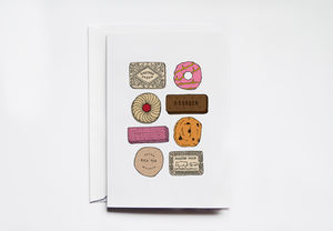 English Biscuit Greeting Card - shop by category