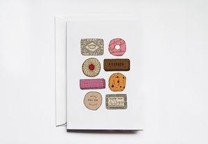 English Biscuit Greeting Card