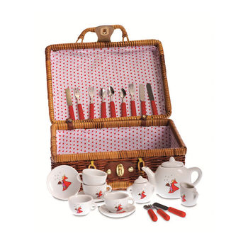 Toy Tea Set In A Basket