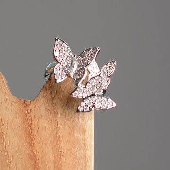 Butterflies In My Stomach Ring In Silver