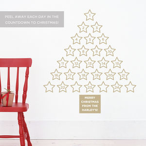 Personalised Christmas Advent Calendar Wall Sticker