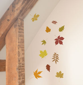 Mini Autumn Leaves Wall Stickers - bedroom