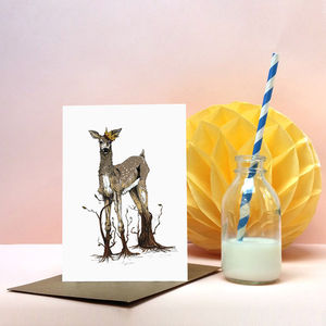 'Great Rooted Doe' Greeting Card