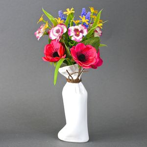 Porcelain Sack Vase - table decorations