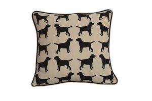 Cotton Print Labrador Cushion