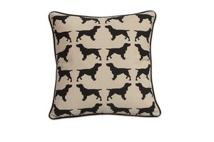 Cotton Print Spaniel Cushion - home