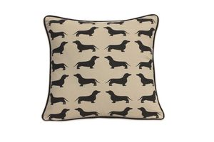 Cotton Print Dachshund Cushion - cushions