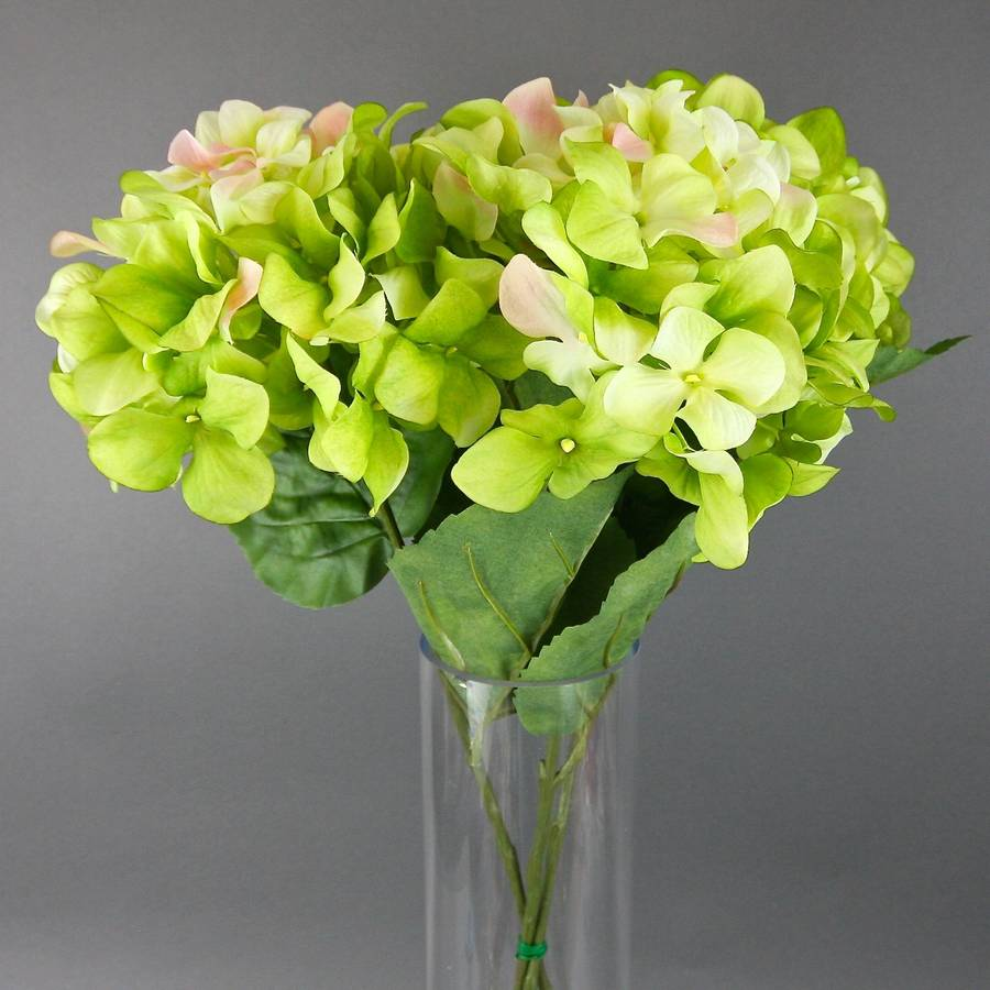 artificial hydrangea stem by london garden trading. Black Bedroom Furniture Sets. Home Design Ideas