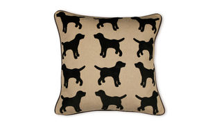 Eaton Labrador Cushion With Leather Piping - cushions