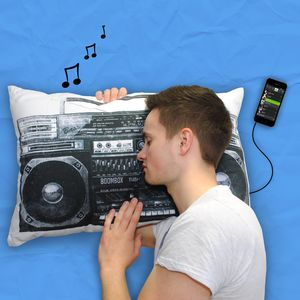 Retro Style Boombox iPod Mp3 Music Pillow - gifts for teenagers